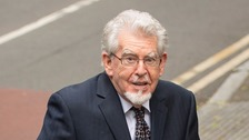 Rolf Harris makes first court appearance since leaving jail