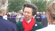 A royal welcome for Princess Anne in Stranraer