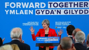 Theresa May announces u-turn on social care at Welsh manifesto launch