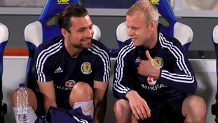 Russell Martin (left) and Steven Naismith (right) could both face England.