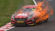 Lancashire racing driver in dramatic car blaze