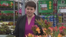 Ruth Davidson on campaign trail in the Borders