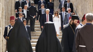 Mr Trump's visit takes in the Church of the Holy Sepulchre