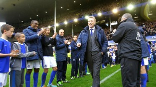 David Moyes was applauded when he left Everton after more than 10 years