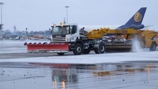 Snow vehicle at Stansted