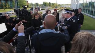 Chief Constable Ian Hopkins addresses the media