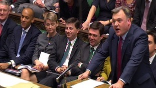 The Shadow Cabinet in the House of Commons today.