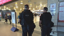 Armed police patrol Leeds train station after attack