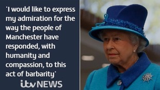 The Queen condemned the suicide bomb attack as an 'act of barbarity'.
