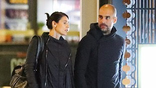 Pep Guardiola and his wife Cristina Serra.