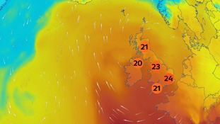 Temperatures rise towards the weekend