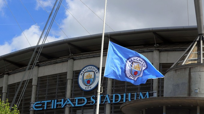 Image result for etihad stadium half flag