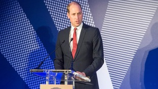 Prince William speaks at an event earlier in May.