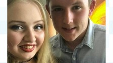 Chloe Rutherford and Liam Curry