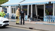 Ford Focus crashes into Essex ice cream parlour