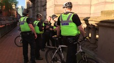 The man was arrested in Birmingham city centre during the vigil.