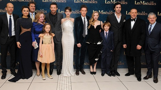 The stars of Les Miserables