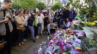A candle lit vigil in Manchester