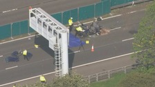 Lorry driver arrested after five people killed in M6 crash