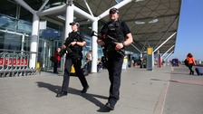 Armed police at Stansted Airport