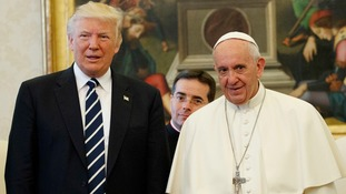 'We can use peace': Donald Trump holds talks with Pope Francis at the Vatican