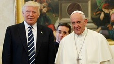 Donald Trump meets Pope Francis at the Vatican