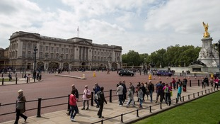 The man was detained on The Mall near Buckingham Palace.