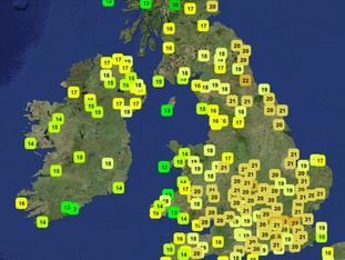 Temperatures at 11.45