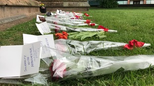 Messages of solidarity from Carlisle to Manchester