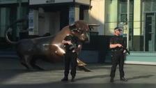 Armed police outside the Bullring in Birmingham