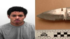 Teenager jailed stabbing five men in one night