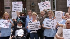 Carers in Jersey protest against contract changes