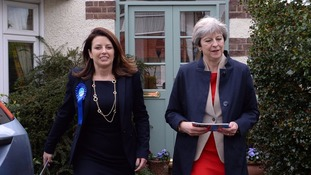 Theresa May's Conservative party will resume its national campaign on Friday.