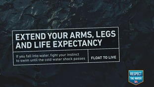 The RNLI are urging people to fight their instincts and to try to float or rest.