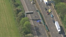 The incident involved a lorry and one car