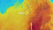 High pressure returns and warm air continues to seep in from the south Sunday and Monday