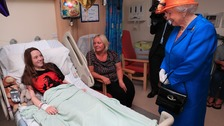 Queen visits young North East terror victims in hospital