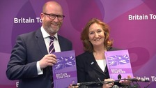 Ukip leader Paul Nuttall and deputy leader Suzanne Evans.