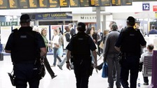 Armed police patrolling on board trains nationwide for first time
