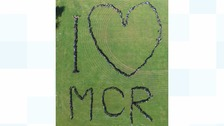 Parklands High School in Chorley did this touching tribute