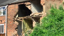 Part of the derelict building collapsed on Wednesday evening.