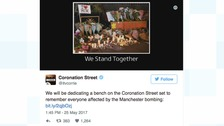 Coronation Street to dedicate a bench to victims