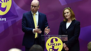 Ukip leader Paul Nuttall and deputy chairwoman Suzanne Evans.