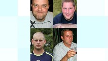 Daniel and Thomas Hazleton, Adam Taylor, and Peter Johnson were killed when a metal cage collapsed on to them.