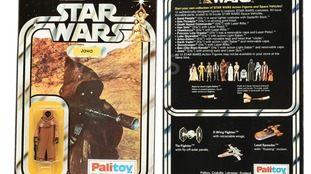 The vintage Palitoy Jawa, with vinyl cape, is one of only a handful known to exist.