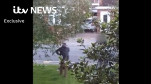 Exclusive video shows armed police arrest Nuneaton suspect