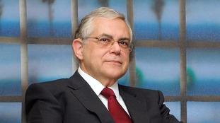 Former Greek prime minister Lucas Papademos.