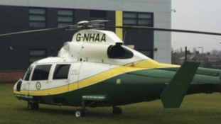The Great North Air Ambulance was called to airlift the boy to hospital