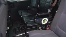 A wheelchair accessible car