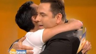 David Walliams meets Rylan on the Daybreak set